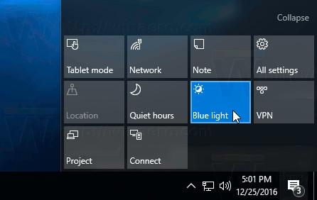 Kích hoạt chế độ Blue Light trên Windows 10