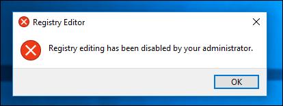 Chặn quyền truy cập Registry Editor trên Windows 10 / 8 / 7