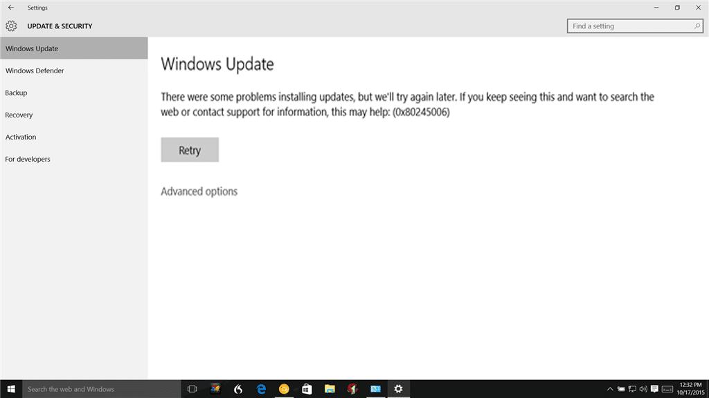 Lỗi 0x80245006 trong quá trình cập nhật Windows 7, 8 và 10, đây là cách sửa lỗi