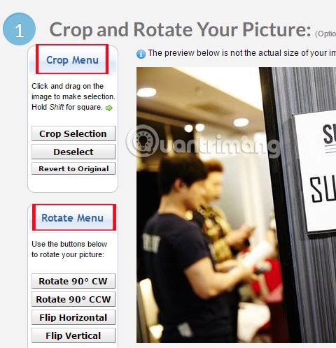 Hướng dẫn thay đổi kích thước ảnh bằng Pic Resize online