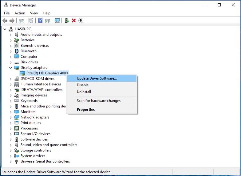 Trên màn hình bạn sẽ nhìn thấy danh sách tất cả driver trên máy tính của mình