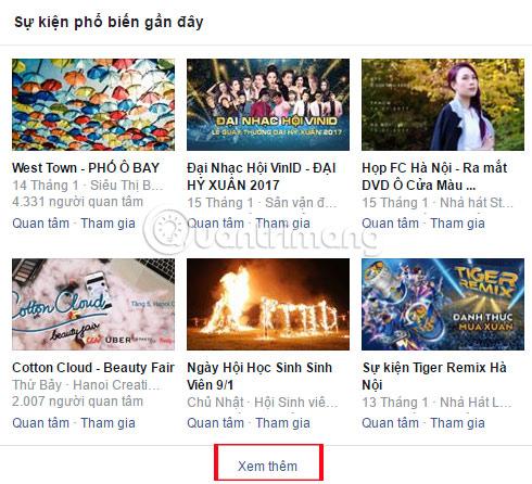 Cách tìm sự kiện, hoạt động, lễ hội trên Facebook