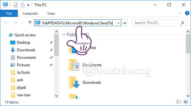 Cách thêm biểu tượng đám mây vào menu chuột phải Windows 10