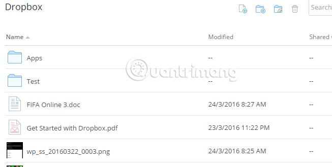 Hướng dẫn thay đổi tên file, thư mục trên Dropbox
