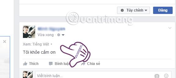 Cách đăng status Facebook với nhiều ngôn ngữ