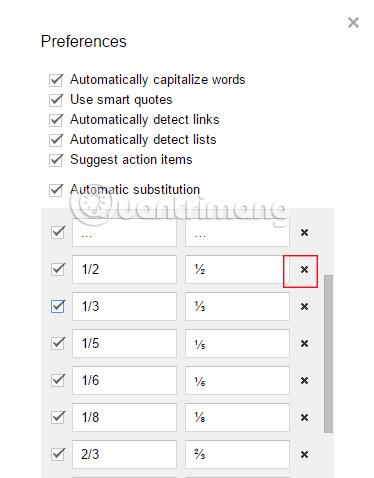 Cách tạo cụm từ thay thế trong Google Docs