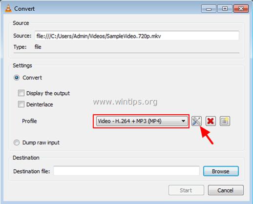 Tại mục Profile, chọn Video –H.264 +MP3 (MP4)