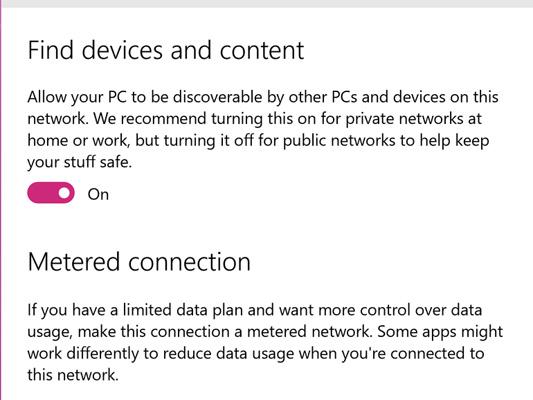 Thiết lập mạng WiFi ở chế độ Metered Connection
