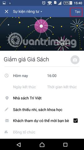 Hướng dẫn tạo sự kiện, hoạt động trên Facebook