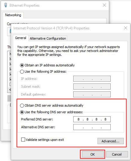 Đổi DNS mặc định sang DNS của Google