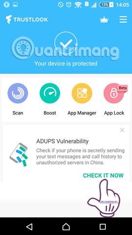 Cách tìm phần mềm gián điệp bằng Antivirus & Mobile Security