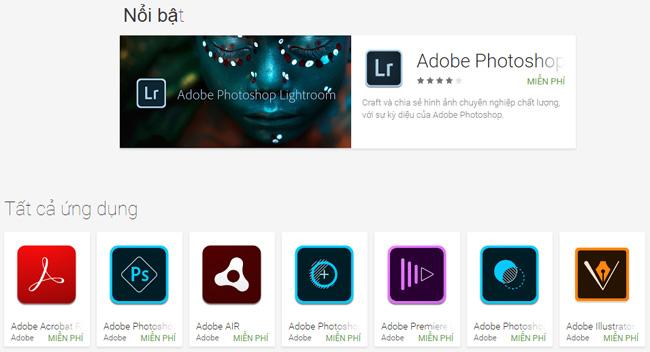 Ứng dụng chỉnh sửa ảnh của Adobe
