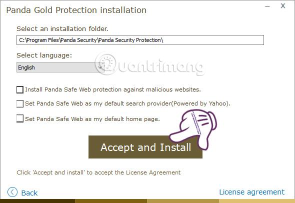 Tăng cường bảo mật Windows bằng Panda Gold Protection