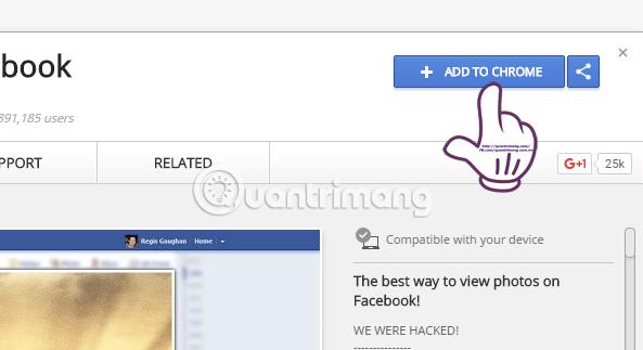 Phóng to ảnh trên Facebook bằng tiện ích Photo Zoom for Facebook