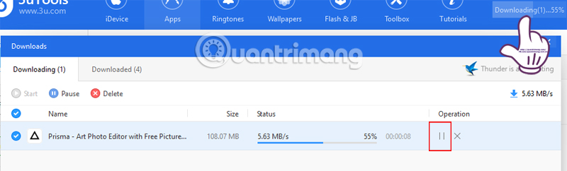 Cách tải ứng dụng cho iPhone bằng 3uTools - Quantrimang com