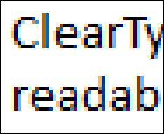 Tăng độ nét màn hình LCD với công nghệ ClearType