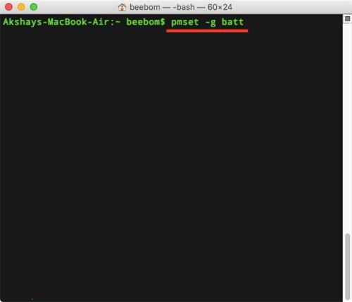 Cách xem thời lượng pin trên macOS Sierra 10.12.2