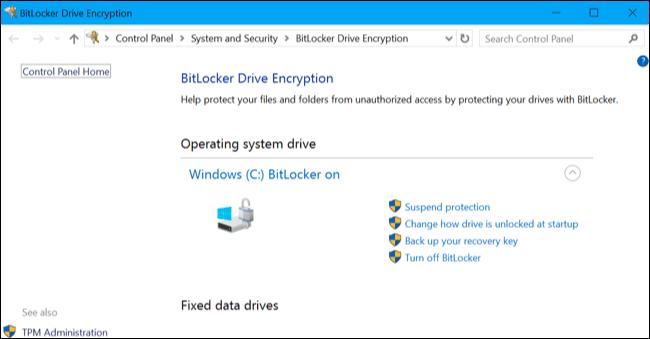 Làm thế nào để kích hoạt Full-Disk Encryption trên Windows 10?