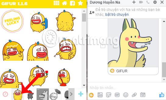 Bộ biểu tượng cảm xúc GIFUR cho Facebook Messenger