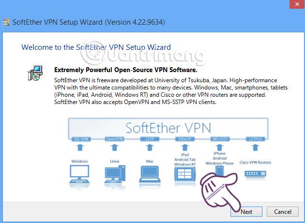 Cài đặt VPN Gate