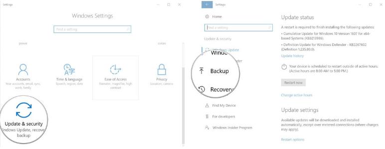 Sao lưu hình ảnh trên máy tính Windows 10 như thế nào?