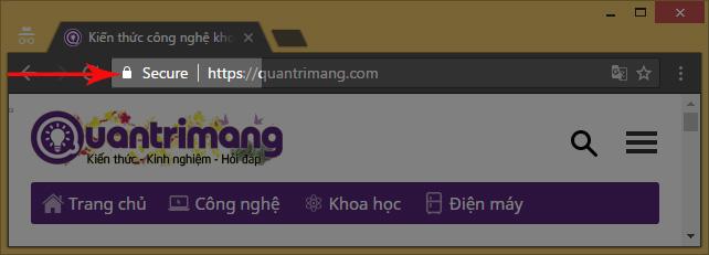 Quantrimang.com đã sử dụng SSL