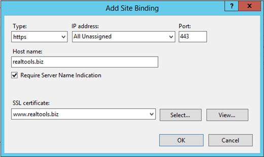 Làm thế nào để host các SSL khác nhau trên một địa chỉ IP bằng IIS 8 SNI?