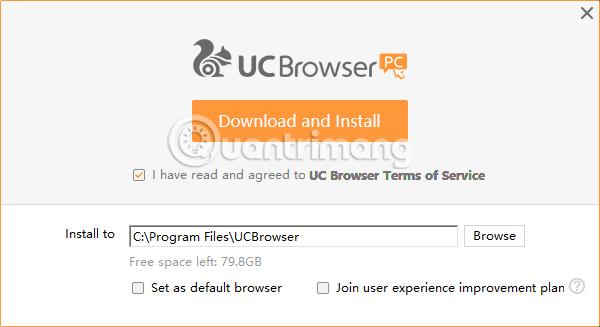 Cách tạo điểm phát WiFi trên trình duyệt web UC Browser