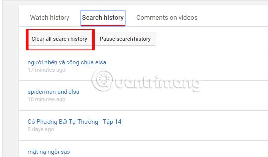 Cách kiểm tra lịch sử tìm kiếm video trên Youtube