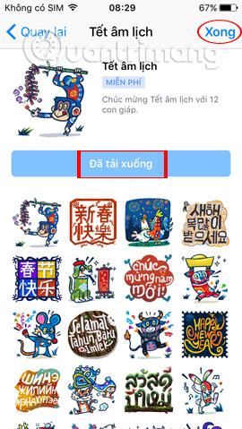 Giao diện chat trên Messenger