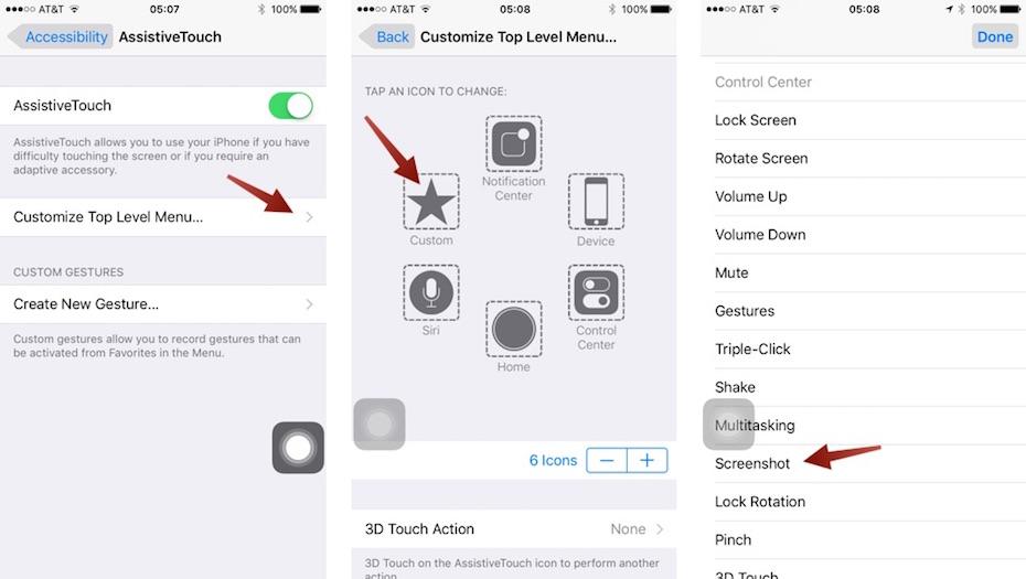 Làm thế nào để chụp ảnh màn hình iPhone 7, iPhone 7 Plus?