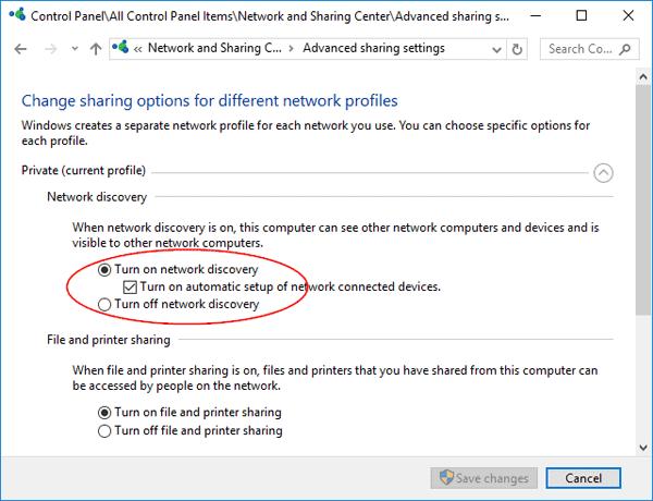 3 cách kích hoạt hoặc vô hiệu hóa Network Discovery trên Windows 7/8/10