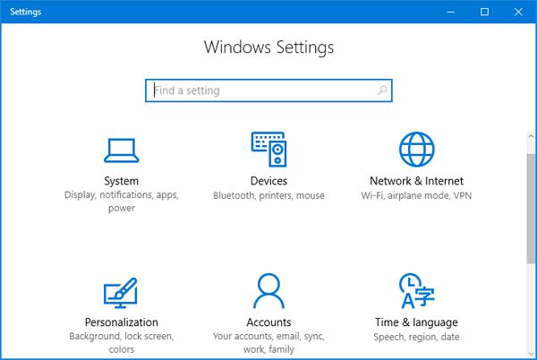 Tổng hợp một số cách truy cập nhanh ứng dụng Settings trên Windows 10