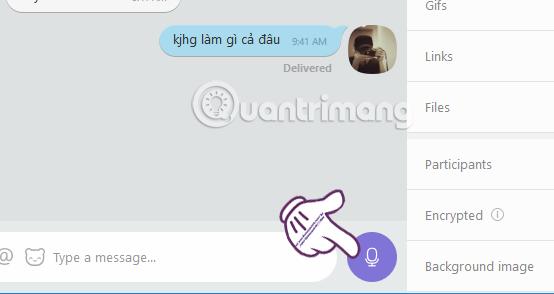Hướng dẫn gửi tin nhắn âm thanh trên Viber
