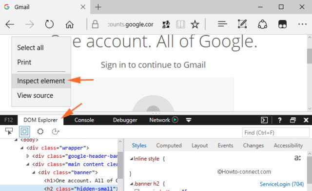 Mở Inspect Element và View Source trên trình duyệt Microsoft Edge