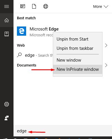 5 cách mở trình duyệt Microsoft Edge ở chế độ ẩn danh