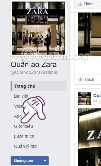 Thông tin chi tiết cho Fanpage Facebook