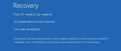 Các bước sửa lỗi 0xc0000225 trên Windows Vista/7/8/8.1/10