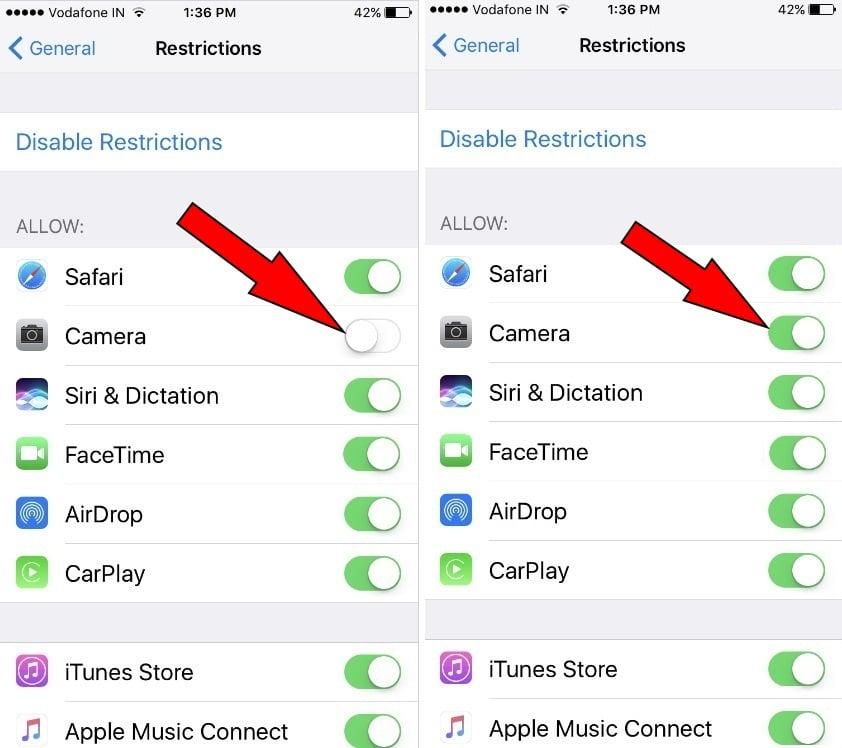 Lỗi biểu tượng Camera trên iPhone 7/7 Plus bị mất sau khi cập nhật iOS 10, đây là cách sửa lỗi