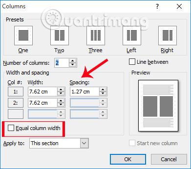 Những thủ thuật xử lý cột trong Microsoft Word