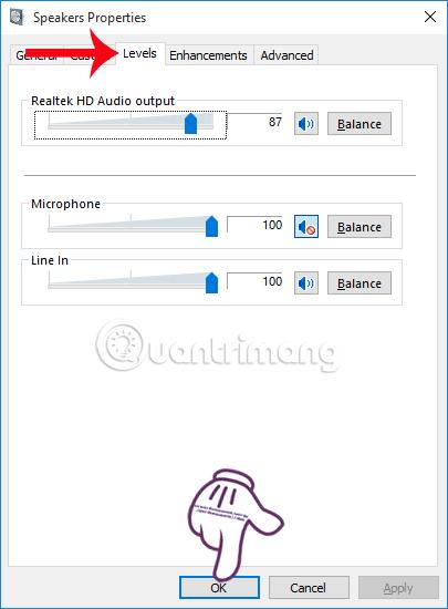Điều chỉnh mức âm thanh trên máy tính