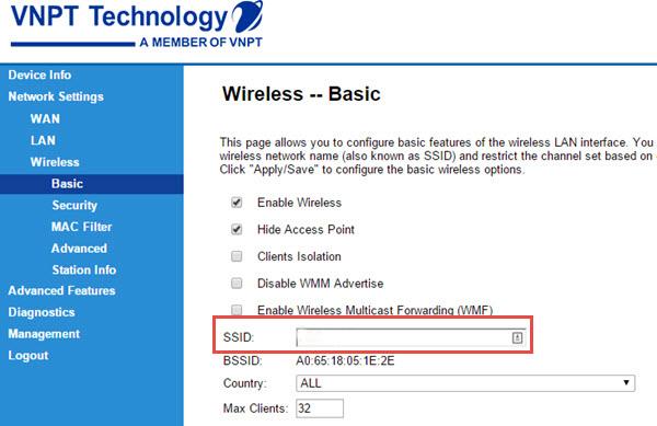Hướng dẫn thay đổi mật khẩu WiFi iGate VNPT