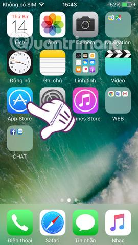 Nhấn chọn App Store