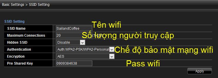 Thay đổi mật khẩu mới cho WiFi Viettel