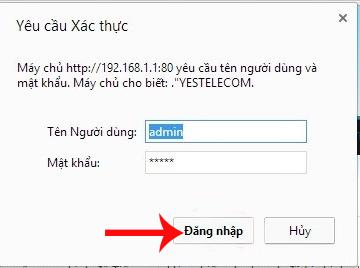 Hướng dẫn đổi mật khẩu WiFi VNPT Yes Telecom
