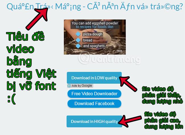 Chọn độ phân giải và tải video Facebook về máy tính