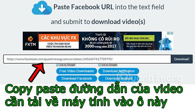 download video từ facebook