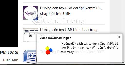 Cách tải video trên trình duyệt Web bằng Video DownloadHelper