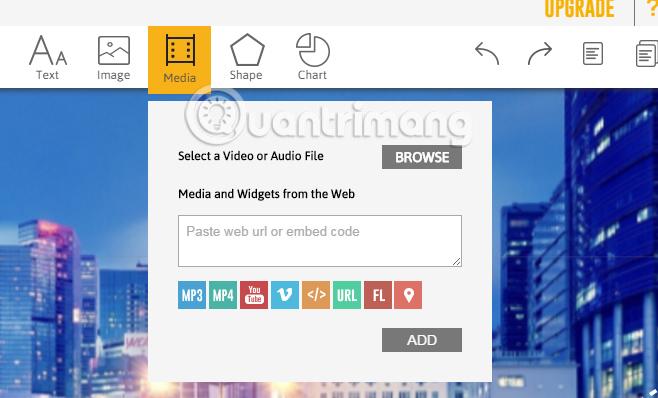 Chèn nội dung vào slide trên Emaze online
