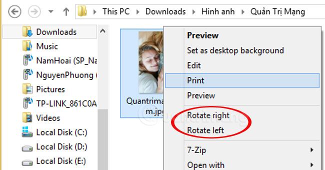 Cách xoay ảnh bị ngược, xoay ngang trên máy tính không cần phần mềm